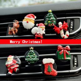 $enCountryForm.capitalKeyWord NZ - Christmas Car Air Outlet Perfume Tree Santa Claus Car Perfume Clips Air Conditioner Outlet Clip For Cars Christmas Decor Supplie