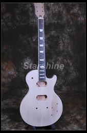 Guitar One Piece Neck Australia - Starshine Electric Guitar Kit DK-HF60 ABR Bridge Alnico Pickups Maple Top One Piece Neck &Body eIncluding All The Hardware Cream Binding