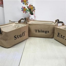 $enCountryForm.capitalKeyWord Canada - Storage Box Linen Quality Material Large Capacity Dirty Clothes Toy Folding Sort Out Boxes Home Delicate Durable Hot Sale 17 5bl I R
