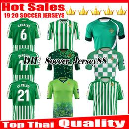 LIMITED EDITION CHECKERED 2019 2020 REAL Betis camisa de futebol HOME 18 19 JOAQUIN MANDI BARTRA TELLO INUI CANAIS CAMISAS DE FUTEBOL CAMISAS DE FUTEBOL