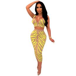 f974457469 Two Piece Midi Skirt Set UK - new women dress summer zipper up spaghetti  strap top