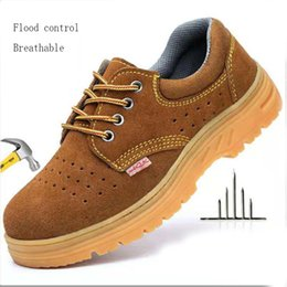$enCountryForm.capitalKeyWord Australia - Men's Summer Breathable Casual Shoes Steel Toe Caps Anti-smashing Puncture Labor Insurance Shoes Tendon Bottom Safety Men