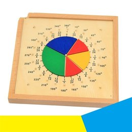 Cheap Sale Montessori Mathematics Developing Wooden Toys Learning Education Toys For Children Decimal Fraction Board Home
