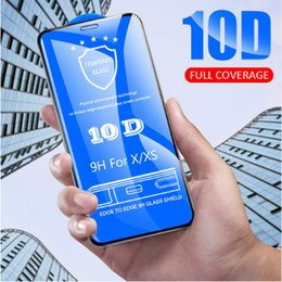 $enCountryForm.capitalKeyWord Australia - For iPhone XS Tempered Glass,10D Curved Full Cover Glass Screen Protector Protective Guard for iPhone X XR XS MAX 6S 7 8 Plus