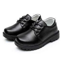 Boy Shoes Children S Leather Shoes Genuine For Kids School Children 2-7  Yesrs Infant Boy Little Black 4ab4e29a1318