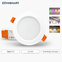 downlight kits NZ - onsumer Electronics ZigBee 3.0 Downlight Kit Smart RGBW 3.5 Inch Led Recessed Ceiling Light 12W Work with Smartthings Echo plus Smart Lig...