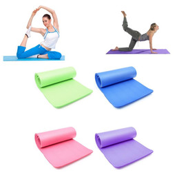 Padded Gym Mats UK - 15mm Thick NBR Foam Yoga Mat Soft Yoga Pads Sports Training Exercise Non-slip Gym Mat 183 X 61cm for Fitness Body Building