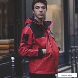 $enCountryForm.capitalKeyWord Australia - 18FW Box Logo PU Leather Mountain Parka Jacket Outdoor Jacket Coat Fashion Street Outerwear S-XL HFYMJK152