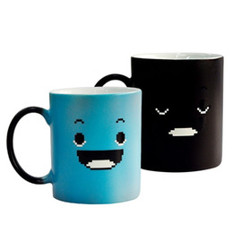 $enCountryForm.capitalKeyWord Australia - New Creative discolored ceramic cup, smiling face cups, water cup Drinkware custom-made Mark coffee cup gifts Mugs 4974