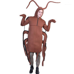 funny fashion costumes Canada - Fashion Cool Style Casual Apparel Cockroach Print Halloween Cospaly Funny Designer Mascot Costumes Fastfood Festival Unisex