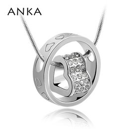 necklace crystal jewelry Australia - ANKA Hot Sale Collares Colares Femininos Newest Jewelry Wholesale Heart In Pendant Austria Crystal Necklace Free Shipping #81387
