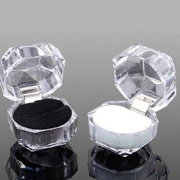 $enCountryForm.capitalKeyWord NZ - Free Shipping 20pcs lot Hot Sale Jewelry Package Ring Earring Box Acrylic Transparent Wedding Packaging Jewelry Box
