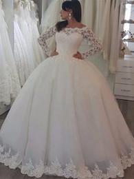 $enCountryForm.capitalKeyWord Australia - Royal Ball Gown Wedding Dresses Sheer Neck Sleeveless Appliques Beaded Tulle Plus Size Wedding Gowns Queen Bridal Dresses