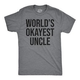 $enCountryForm.capitalKeyWord NZ - Worlds Okayest Uncle T Shirt AweArriveme Funny Family Reunion Text Saying Tee