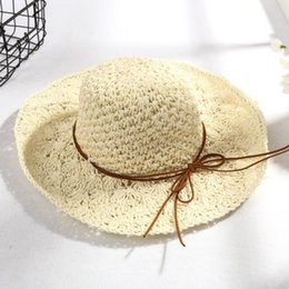 $enCountryForm.capitalKeyWord Australia - 2019 new hot comfortable trend casual Korean version of the handmade crochet ladies bow hollow sunshade foldable sunscreen big beach