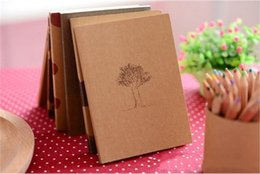 small paper notebooks 2019 - Small Blank Kraft Paper Notebook Notepad Sketchbook Diary Journal Paint Drawing Pattern Randomly Stationery cheap small
