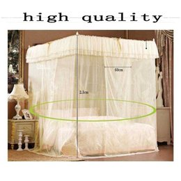 Discount mosquito nets for doors - Mosquito Net for double bed curtains palace sleeping curtain three door bed canopy nets cortinas mosquitera moustiquaire