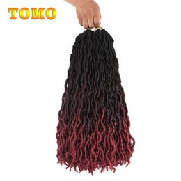$enCountryForm.capitalKeyWord Australia - TOMO Goddess locs Faux locks Dreads Crochet Curly Braids Soft Natural Synthetic Braiding Hair Extensions 24 Stands pc