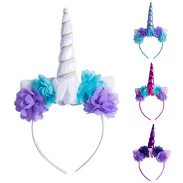 hair horns Australia - Decorative Unicorn Horn Head Party kid girl Hair Headband Fancy Cosplay