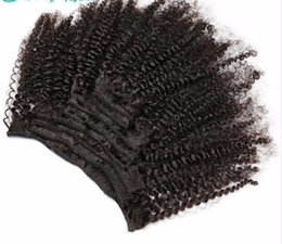 slove hair Canada - Slove Rosa Product Curly Clip In Human Hair Extensions 100% Remy 8 Pieces And 120g set Natural Color