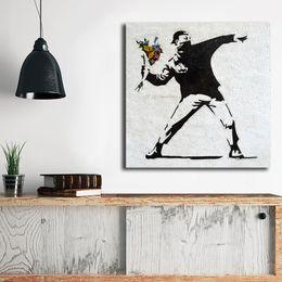 $enCountryForm.capitalKeyWord Australia - Banksy Street Art Canvas Painting Baby Nursery Canvas Art Oil Printing Poster HD Picture Decraotion Print Decorative Living Room Home Decor