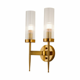 Chinese  Post Modern Gold Wall Lamp Bedroom Kitchen Stair Led Mirror Wall Light Industrial Decor dining room aisle Glass lighting fixture manufacturers