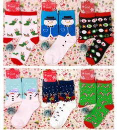 christmas socks for men Australia - 15 Colors Red Christmas Sock Winter Cartoon Elk Deer Socks For Women Men Cotton Keep Warm Baby Girl Boy Soft Socks New Year DHL XD22529