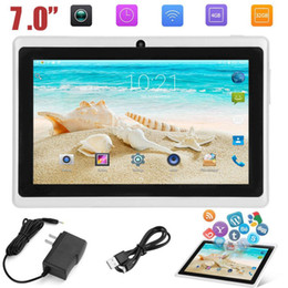 android child tablet Australia - 7 inch Quad-core wifi Tablet PC 512M+4G Q88 Android kids Tablets with UK US AU Power Supply Adapter Child