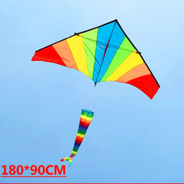 Discount flying bird toy wholesale - free shipping high quality 10pcs lot rainbow kite windsock wholesale kite reels flying bird toy flying door styles facto