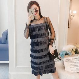 6139ebe3ce5 Maternity dresses spring Korean fashion gold velvet cake layer stitching  mesh pregnant women dress pregnancy clothes vestidos