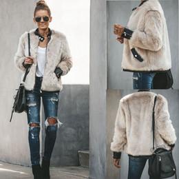 Wholesale puff coats jackets resale online – Fur Jackets New Fashion Women Faux Fur Coat Biker Streetwear Teddy Bear Pocket Fleece Jacket Zip Up Outwear Women Clothes