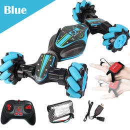 ElEctric kids car online shopping - Boys Wirless RC Car Toys Dancing Spinning Car Boys Stunt Dump Remote Control Gesture Sensitive Twist Car Auto Kids Toys Gift Package