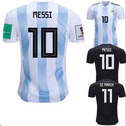 9e13016f86f World Cup 2018 Argentina Soccer Jerseys Messi Dybala Kun Aguero Futbol  Camisa Football Camisetas Shirt Kit Maillot