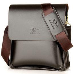 men leather shoulder bag kangaroo 2019 - Luxury Kangaroo Brand Leather Messenger Bag Man Handbag Chest Crossbody Bag For Men Business Small Shoulder Summer Male