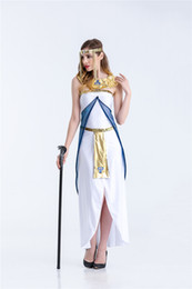 Female Indian Costumes Australia - new style classical beautiful Ancient Egypt Queen Costume Classical Arab dress mysterious Halloween game uniform Party Cosplay tools