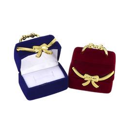 $enCountryForm.capitalKeyWord UK - Elegant Hand Bag Shape Design Display Ring Earring Box Ring Box Flocking Jewelry Delicate Storage Case Gift