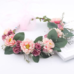 $enCountryForm.capitalKeyWord Australia - Rustic Bridesmaid Hair Flower Headbands Wedding Hair Accessories Bridal Flower Crown headpieces Bridal Flower girls Garland