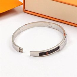 titanium bracelets Australia - new European and American fashion classic lovers bracelet, titanium steel letters silver accessories wholesale box