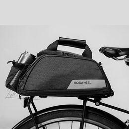 Black Carrier Bags Australia - Cycling Handbag Shoulder Carrier Basket Back Bike Seat Shelf 11L Bike Bag Black