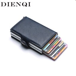 $enCountryForm.capitalKeyWord Australia - Anti Rfid Protection Men Women Id Credit Card Holder Wallet Metal Leather Aluminum Business Bank Card Case Creditcard Cardholder J190702