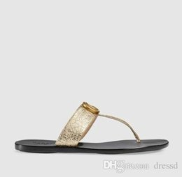 thong slips Australia - 2019 fashion Black soft Leather Francis Thong Sandals mens and womens causal flat beach slip on sandals 35-45