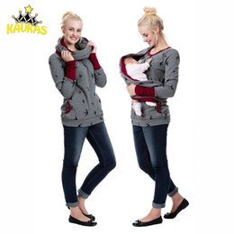 5bbdbe634165e Breastfeeding Clothing NZ - KAVKAS Maternity Clothes Women Dot Pregnancy  Hooded Tops T-Shirt Winter