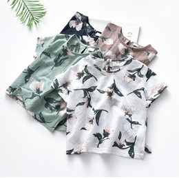 Fashion For Short Girls NZ - 2019 Summer New Children's Clothing Neutral Tops Fashion Round Neck Short Sleeve T-Shirt for boys and girls