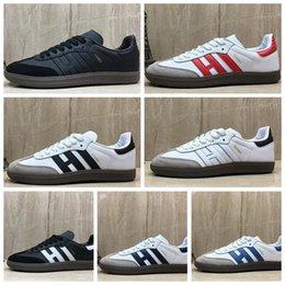 $enCountryForm.capitalKeyWord Australia - ASABAA Cheap 2019 Classic Samba OG Shoes Men women Fashion Designer sneakers red black blue grey green white Canvas Sports Shoes