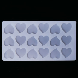 Cake deCorating embossing online shopping - Cake Tool Cute Heart Shape Baking Mold Chocolate Silicone Embossing Die Sugar Arts Cake Decorating Tools Chocolate Mould