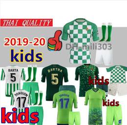 real uniform 2019 - 2019 2020 REAL BETIS Kids kits Soccer Jerseys 19 20 JOAQUIN BOUDEBOUZ MANDI TELLO INUI JAVI GARCIA kids child football s