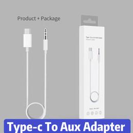 Aux Connectors Australia - Type-c To 3.5 Aux Audio Adapter Cable Plug Type-c Connector For 3.5MM Hearphone Jack