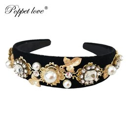 women hairs NZ - Baroque Luxury Rhinestone Crystal Headband For Women Bridal Gold Leaf Hair Accessories Jewelry Runway Retro Headwear J190703