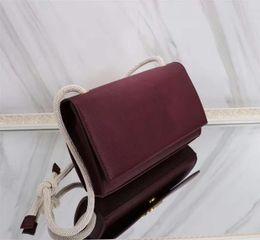 $enCountryForm.capitalKeyWord Australia - TOP 5A High Quality Burgundy Women's Handbags Designer Clutch Girls Fashion Leather Bag Classic with Adjustable Hemp Rope Shoulder Stra