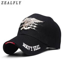 $enCountryForm.capitalKeyWord Australia - Navy Seals Cap Tactical Army Cap Letter Embroidery Baseball Hat US NAVY Snapback Hat For Men Women Dad Wholesale